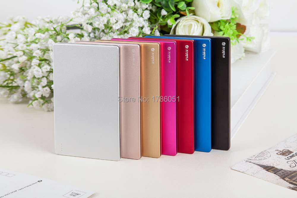 2015 Ultra-thin polymer power bank 6000 mAh for mobile phone & tablet external battery mobile phone portable charger free ship(China (Mainland))