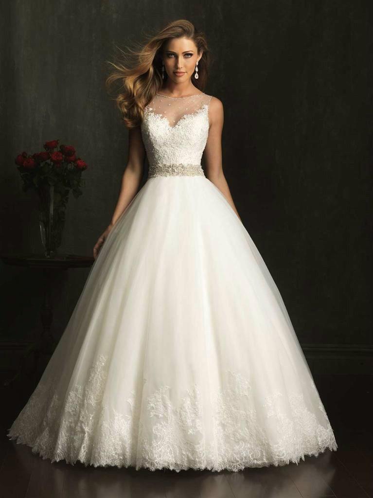 Sleeveless Lace Wedding Dres Floor Length Bridal Gown White Ivory Custom Make Size 2 4 6 8 10 12 14 16 16w 18w 20w 22w(China (Mainland))