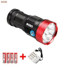 Skyray King 17000Lm 10xCREE XM-L T6 LED Flashlight Water-Resistant& Super Bright Torch Flash light Hunting Lamp+battery+Charger