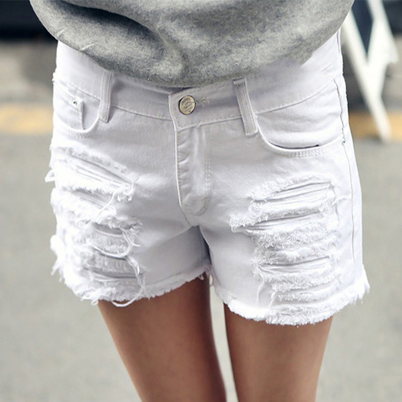 Popular White Denim Shorts Women-Buy Cheap White Denim Shorts ...