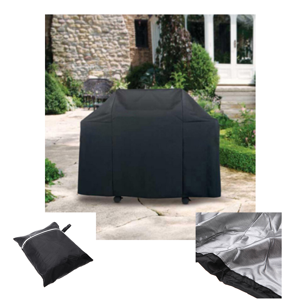 BBQ Cover Water-resistant Garden Patio Rainproof Dustproof Sunscreen Gas Barbecue Accessories Grill Protector 170 * 61 * 117cm(China (Mainland))