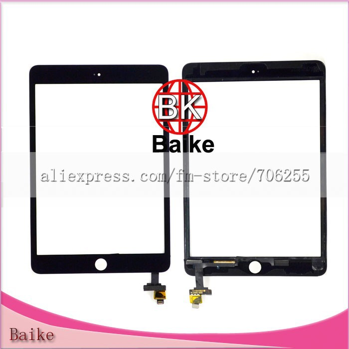 Original Touch Screen Digitizer with IC Connector Assembly for Ipad Mini 3 White / Black(China (Mainland))