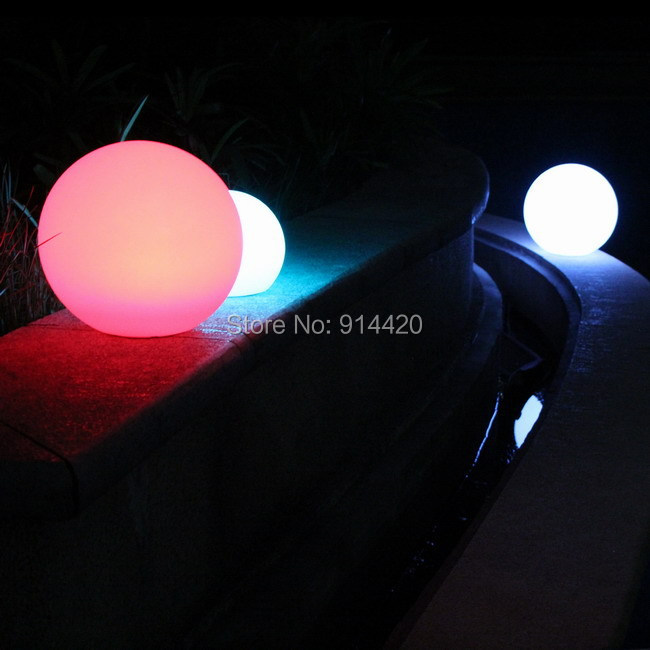 20cm RGB Color changing decorative led ball DHL 1PC