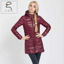 2016 High quality brand ladies with spring autumn coat women ultralight 90% white duck down coat with a bag of women's jackets(China (Mainland))