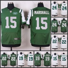 100% Elite men New York Jets 24 Darrelle Revis,22 Matt Forte,19 Keyshawn Johnson,15 Brandon Marshall Joe Namath,Geno Smith A-1(China (Mainland))