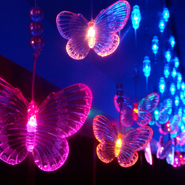 Bead Butterfly Lights Multicolor Led Fairy Lighting String
