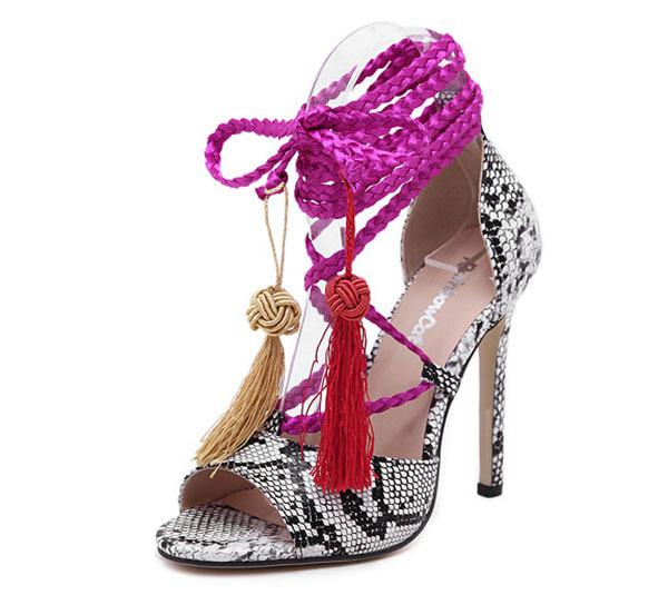 11cm summer sandals white cross high heels cross tied women sandals cross tied sandals FA-0205B(China (Mainland))