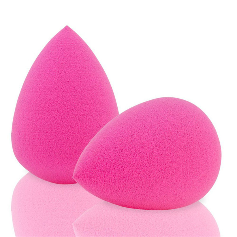 Newly Design 6pcs Pink Droplet Beauty Sponge Latex Free Blender Makeup Flawless Liquid Foundation Wholesale & Retail July2(China (Mainland))