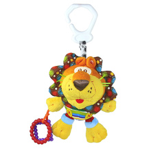 New Baby Plush Toy Crib Bed Hanging Ring Bell Lion Toy Soft Baby Rattle Early Educational Doll