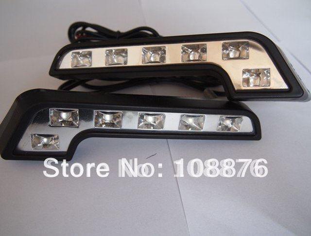 7 shape 6W cold white piranha led daytime running lights(DRL) , anti-vibration and E4 waterproof, free shipping