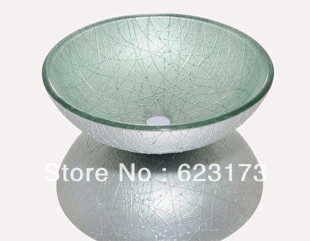 Lavabo Tempered Glass Vessel Sink Bowl Washing Basin