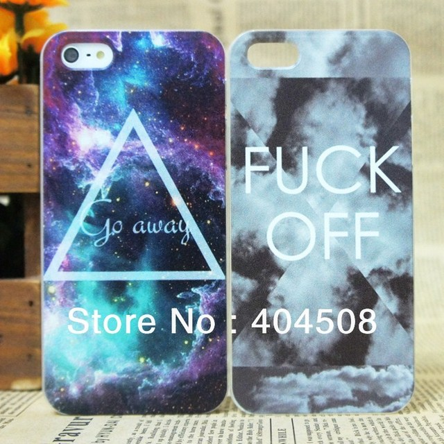new coloured drawing hard back cover shell skin for iPhone 5 5S Free Shipping Cool Triangle Cloud Starry Sky cell phone case