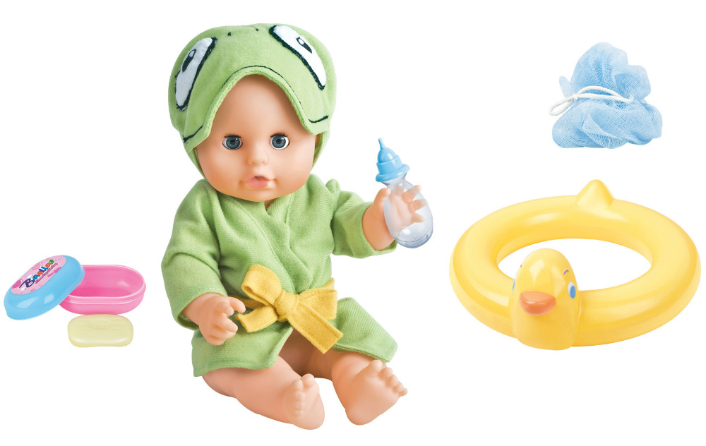 """12"""" Washable Vinyl Doll Bath Set Adora Newborn Baby Drink and Pee for Kids Playhouse Toys Gift and Accessories(China (Mainland))"""