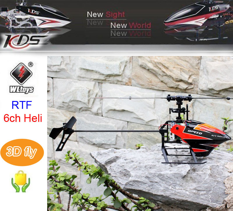 RC Helicopter WL V933 6CH 2.4GHz Flybarless Remote Control RC Drone RTF 3D Fly with LCD V911 v922 updated version Low Toy kids<br>