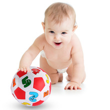 New Baby Early Education Football Toys Alphabet Number Learning Ringing Ball Free Shipping NVIE (China (Mainland))