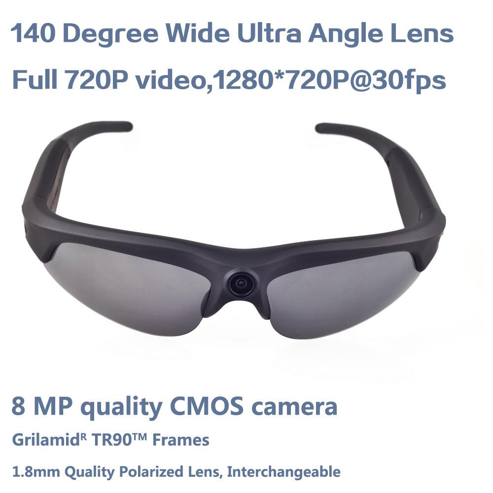 140degree 720P HD Polarized Sunglasses Video Recorder Camera Camera Sunglasses Sunglasses Camcoder(China (Mainland))