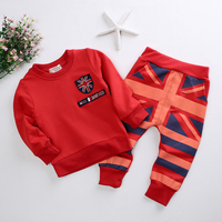 Clothing Set Baby Boy Clothes Fashion Autumn Clothes Sets For Boys Kids American Strip Coat Pant