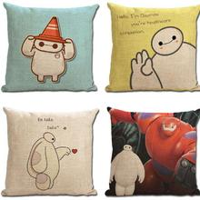 Cartoon Anime Pattern Cotton Linen Cushion Cover for Kids