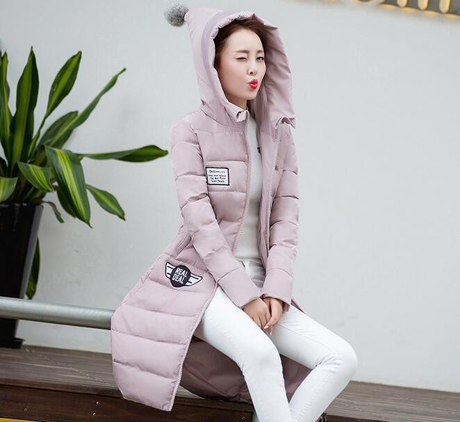 2017 Winter Cotton Down Jacket Women Long Coat Parkas fashion Female Warm Silm Hooded ladies Wadded Jacket outwear T271