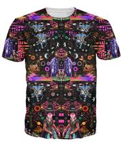 Interstellar Echolocation T-Shirt Vibrant Pops of color and abundant psychedelic patterns 3d print t shirt tees for women men