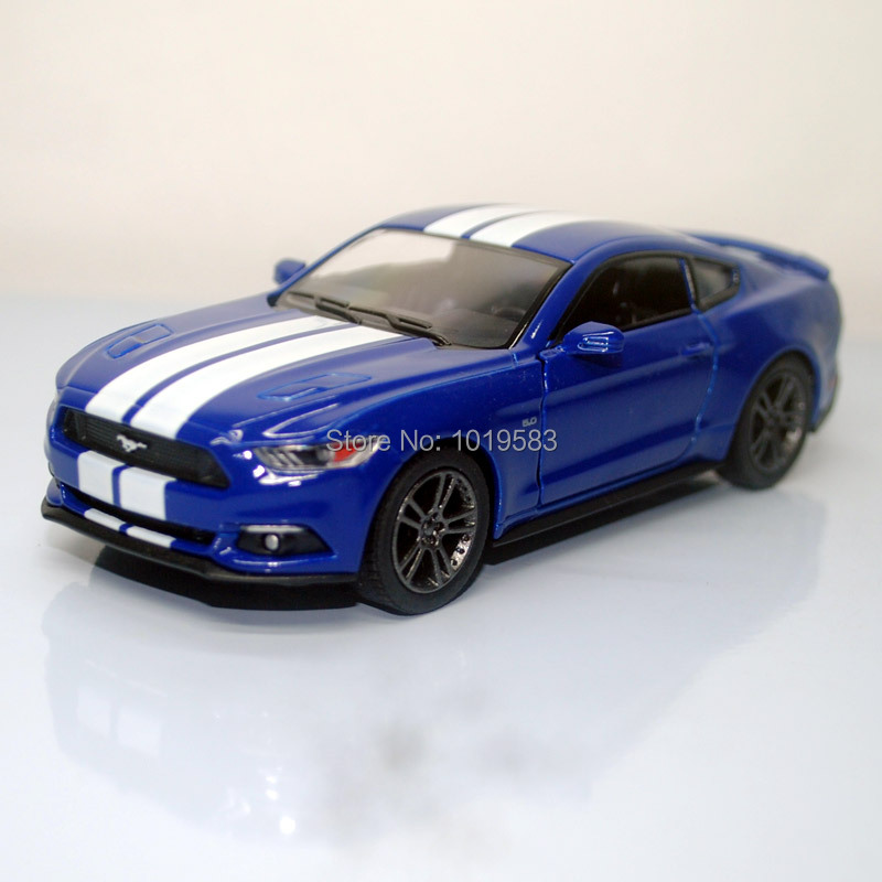 (10pcs/lot) Wholesale Brand New KT 1/38 Scale Car Toys 2015 Ford Mustang GT Diecast Metal Pull Back Car Model Toy(China (Mainland))