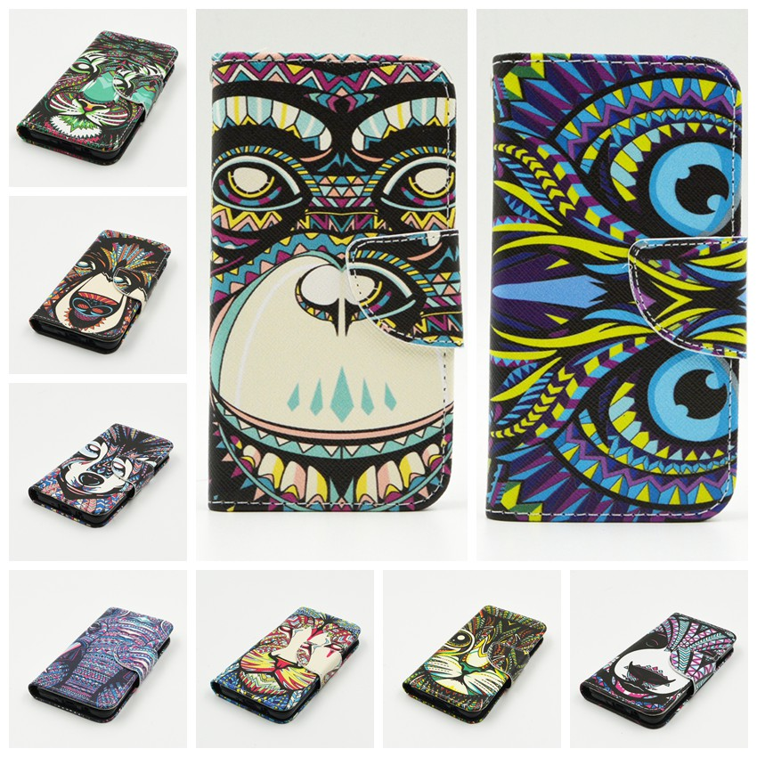 New Fashion 2015 Cartoon Animal picture Colorful Leather Flip Mobile Cell Phone Case Cover For Samsung Galaxy A5 A5000 A500(China (Mainland))