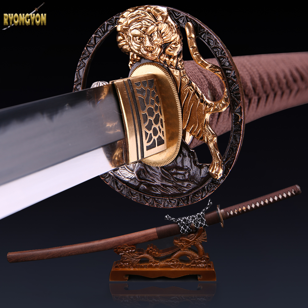 genuine samurai sword sharp real sword handmade katana japanese sword 1095 steel blade decorative ninja sword souvenir original(China (Mainland))