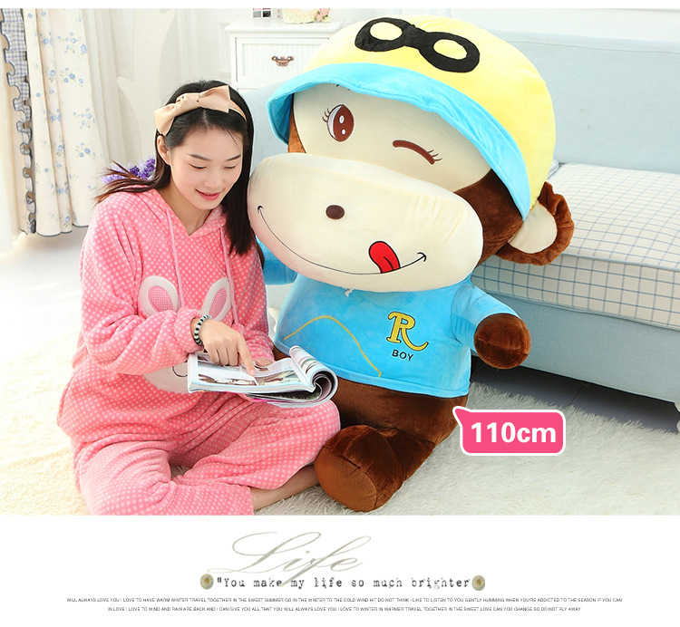 stuffed toy Creative naughty monkey plush toy,monkey hugging pillow Christmas gift d5588