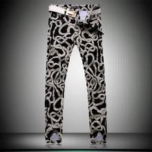 New Brand Slim Men's Pants Rope Print Fashion Casual Hip Hop Pants Big Size 28-36 FREE SHIPPING(China (Mainland))
