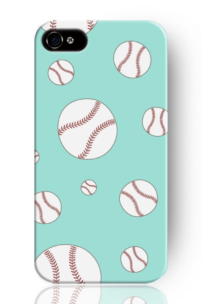 1 piece new Baseball and Catching Gloves Design Fresh Mobile phone shell Hard Plastic Case for Apple Iphone 4s 5s 5c(China (Mainland))