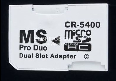 Dual Slot Tf Micro Sd Sdhc Sdxc Memory Card to Ms Pro Duo Stick Adapter Converter for Sony PSP Camera Mobile Phone(China (Mainland))