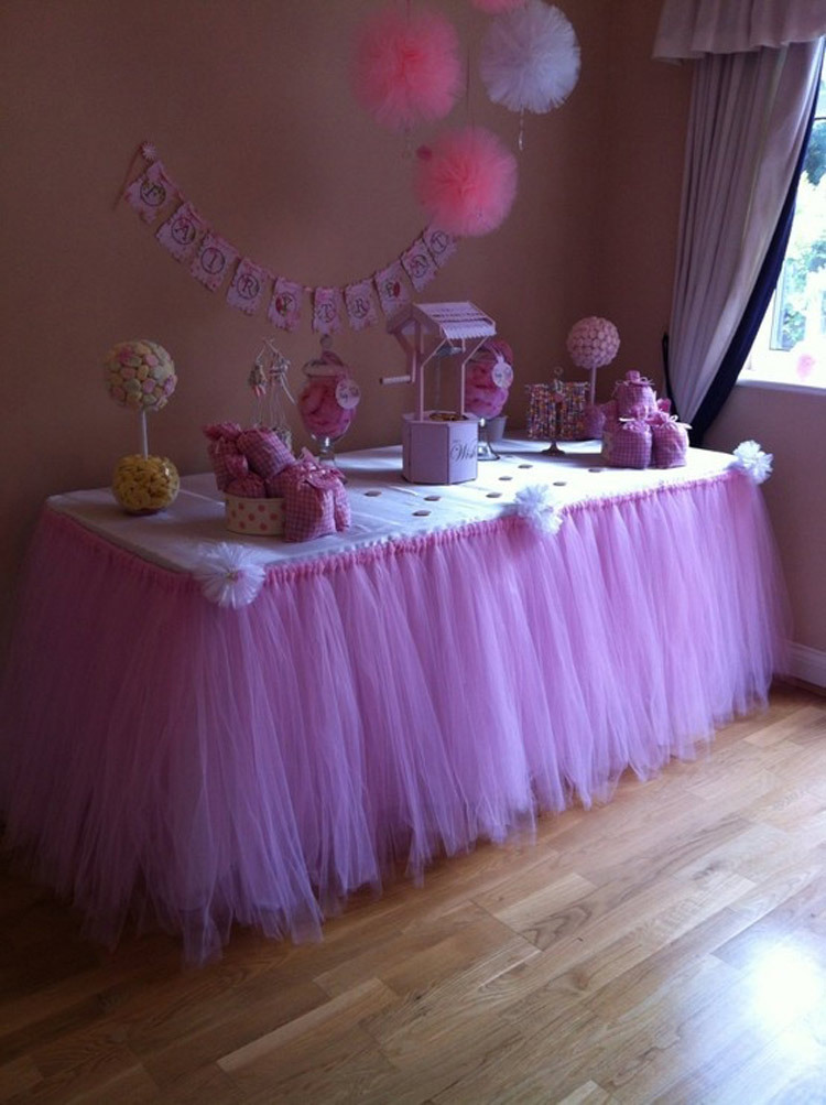 tulle tutu table skirt wedding birthday baby shower party decoration