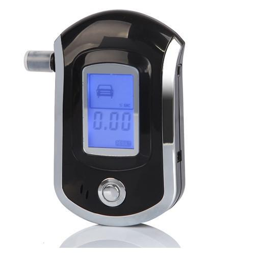 NEW Hot selling fashion Professional Mini Police Digital LCD alcotester Alcohol Breath Tester Breathalyzer ,car detector AT6000(China (Mainland))