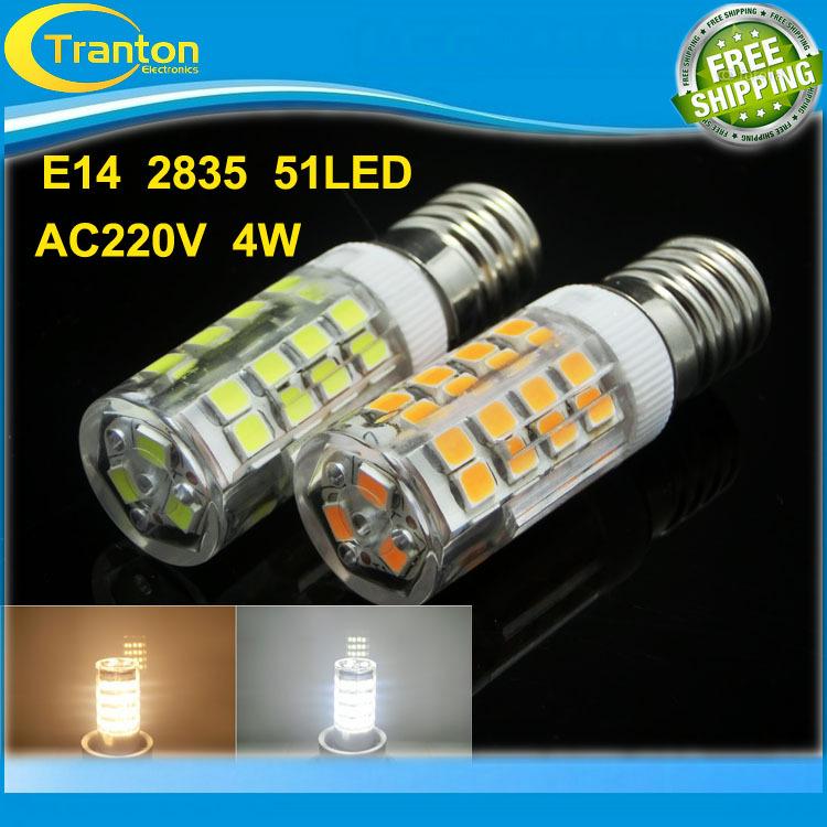 Здесь можно купить  E14 4W 220V  candle bulb, 51LEDs 2835 LED chips White & Warm White Led Lighting,10pcs/lot  Свет и освещение