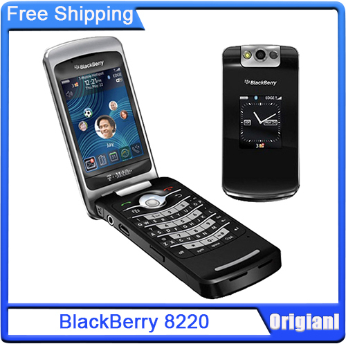 """Original Unlocked Blackberry 8220 Pearl Flip Mobile Phone 2.6"""" TFT Screen 2.0MP Camera GSM WiFi Cell Phone Free Shipping(China (Mainland))"""