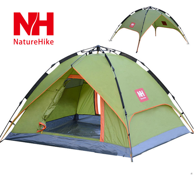 New Arrived 210*180*130 cm Double Layer 3-4 Person Outdoor Camping Automatic Tent - NatureHike(China (Mainland))