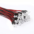 Free Shipping 50pcs DC 12V 5mm Vehicle Car Decor LED Long Bright Lamp Bulbs with Wire