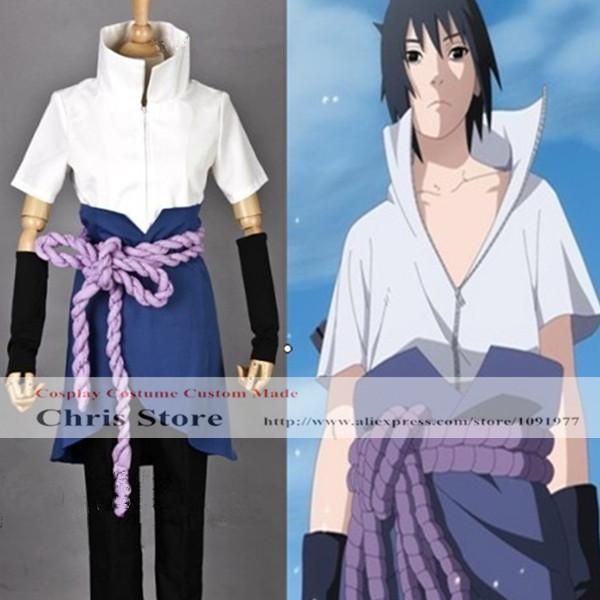 NARUTO Uchiha Sasuke Cosplay Costume Any Size Customized Halloween Costume(China (Mainland))
