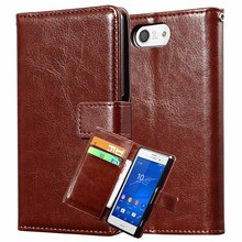 Buy Leather Wallet Case Sony Xperia Z3 Compact Mini D5803 M55W Phone Bag Luxury Flip PU Leather Coque Sony Z3 Compact Cover for $3.49 in AliExpress store