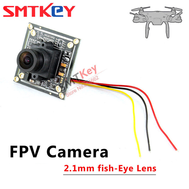 SMTKEY 2.1mm lens fish eye wide view fpv camera 2041+2355 sharp ccd cctv camera for RC Quadcopter Drone FPV Photography(China (Mainland))