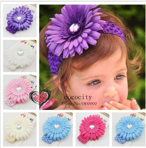 Christmas Gifts Fashion Baby Headbands Big Flower Lacework Baby Hair Band Beautiful Baby Girl Hair Accessories Infant Headband(China (Mainland))