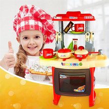 Kids toys Mother garden Beauty Kitchen Cooking Toy Play set for Children and parents(Red) games play free free shipping(China (Mainland))