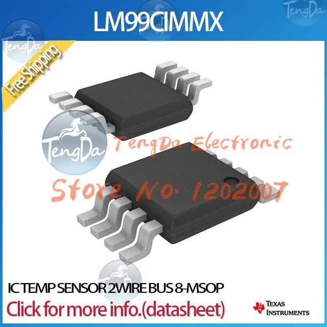 Free Shipping 5PCS/lot LM99CIMMX IC TEMP SENSOR 2WIRE BUS 8-MSOP(China (Mainland))