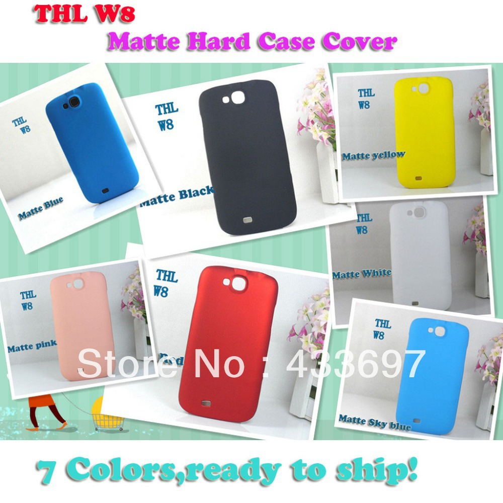 Hot Selling Mobile Phone Hard Matte Frosted Back Cover Protective Case For THL W8 android black white Case(China (Mainland))