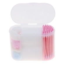 1box/lot Portable Travel Soft Cotton Makeup Cosmetic Remover Disposable Medical Cure Health Beauty Swabs Buds Balls New LA600553(China (Mainland))