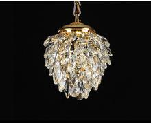 Modern Crystal Pendant Light Gold /Chrome Pendant Light Pineapple shape Used in WalkWay Club Guaranteed 100%+Free shipping!(China (Mainland))