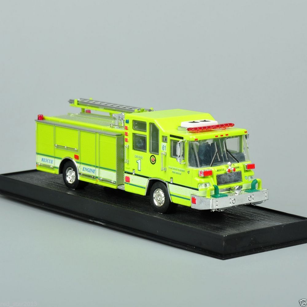 New 1:64 Scale Alloy Diecast Fire Truck 1997 Pierce Quantum Pumper USA Cars Truck Model Yellow Color Collection Gifts For Kids B<br><br>Aliexpress