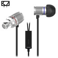 KZ HDS3 Mini Earphone Silver Exquisite Shiny Lightweight Monitoring In Ear Monitors With Microphone