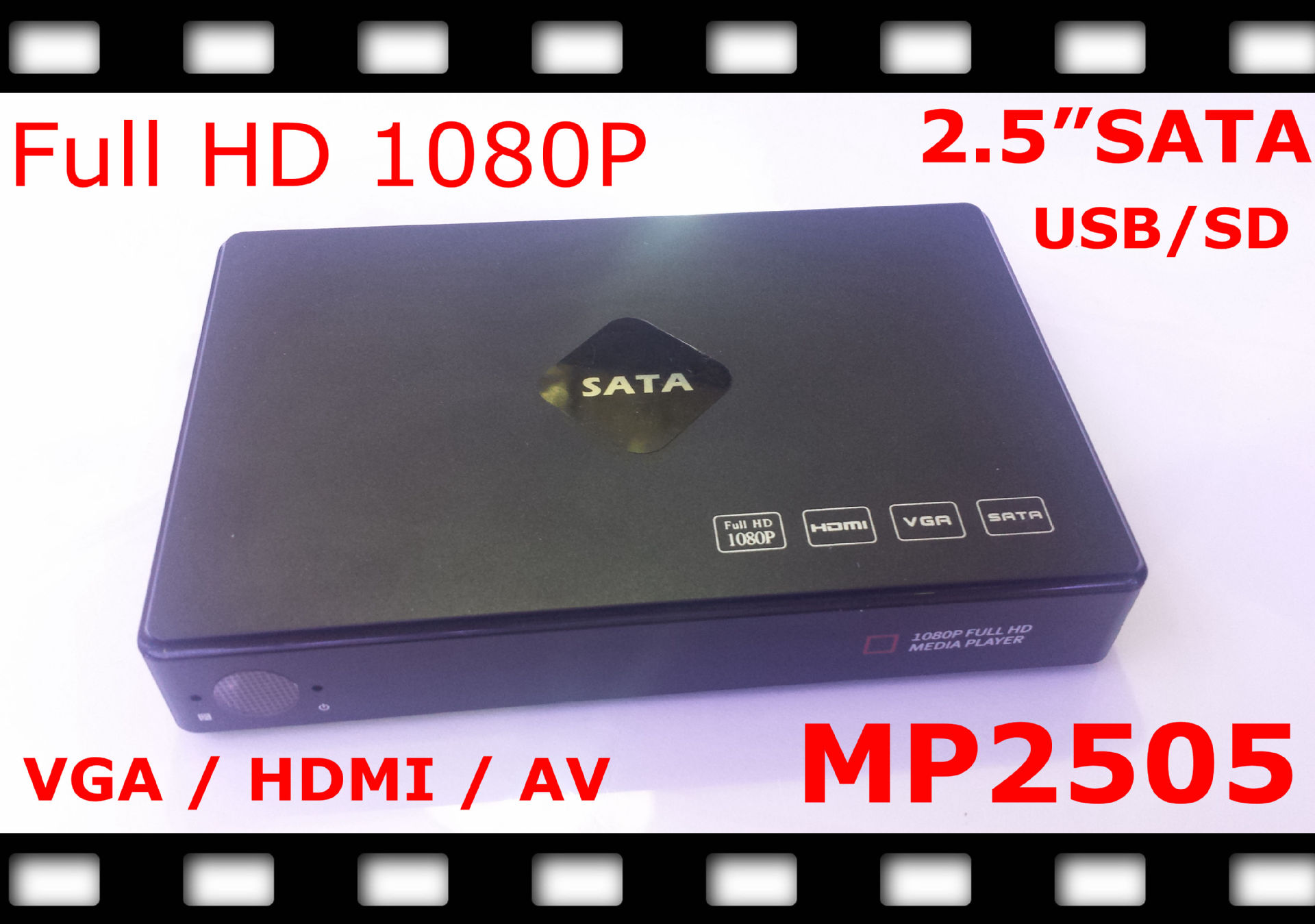 "2.5 ""mobile hard disk HD multimedia player, multimedia U 1080P video player(China (Mainland))"