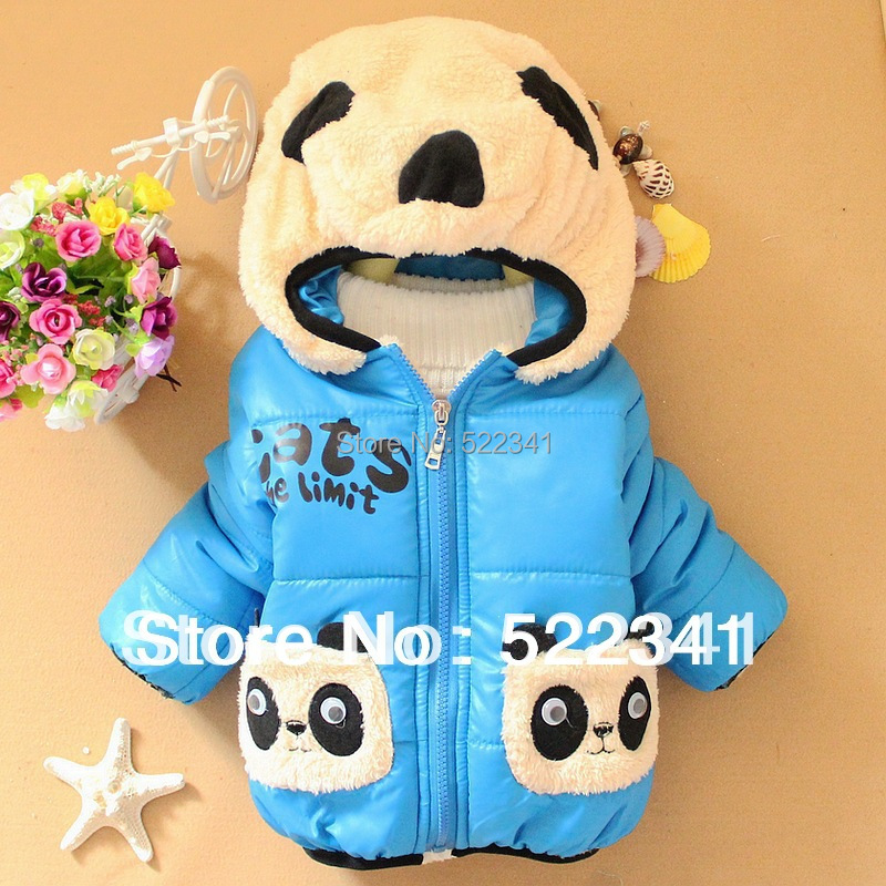 winter new style children's cartoon coat baby boys and girls thick warm coat fashion cute cardigan jacket children's clothing(China (Mainland))
